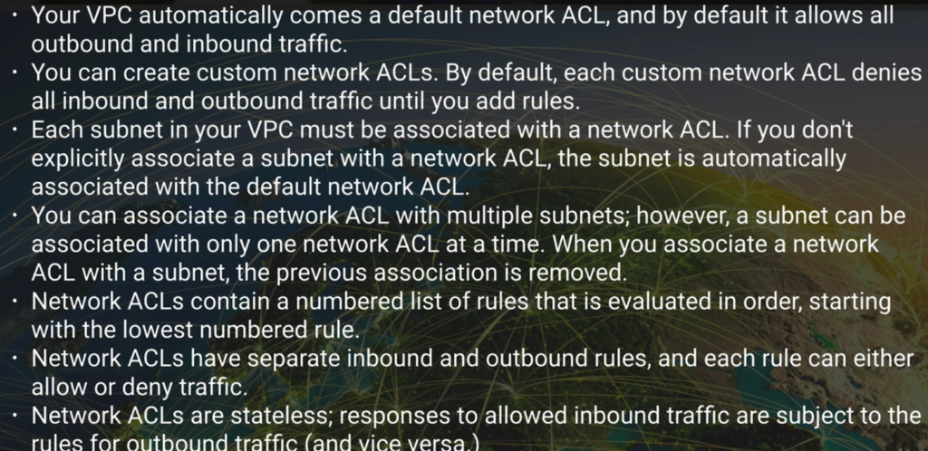aws vpc acl tips
